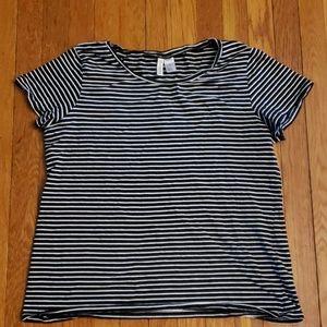 H&M Divided Striped Tee XL